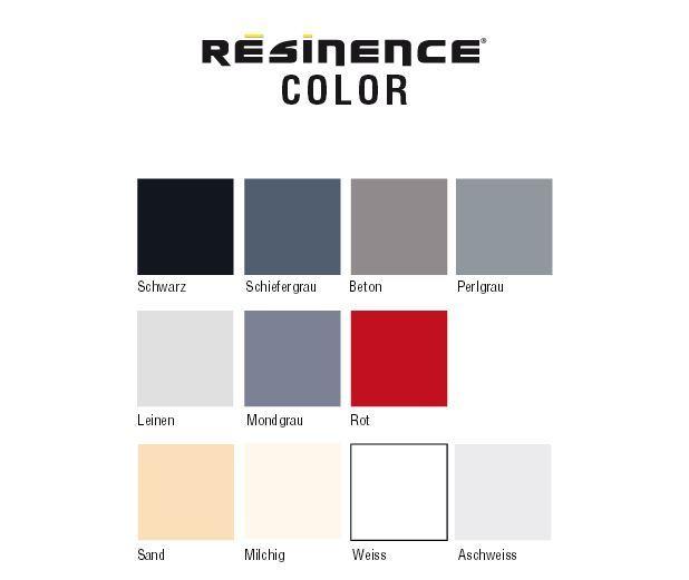 resinence color f r w nde b den m bel fliesen uvm infabe. Black Bedroom Furniture Sets. Home Design Ideas