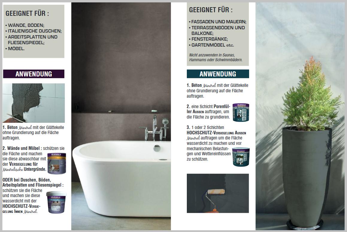 Fugenlose designer spachtelmasse beton mineral resinence infabe - Beton mineral resinence ...